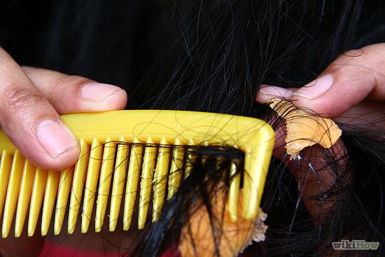 بالصور طريقة سهلة جداً لإزالة اللبان اللاصق من الشعر دون اى آلم ! 2 7/12/2015 - 4:34 م